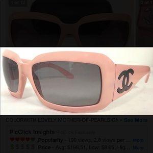 Camel pink sunglasses/polarized